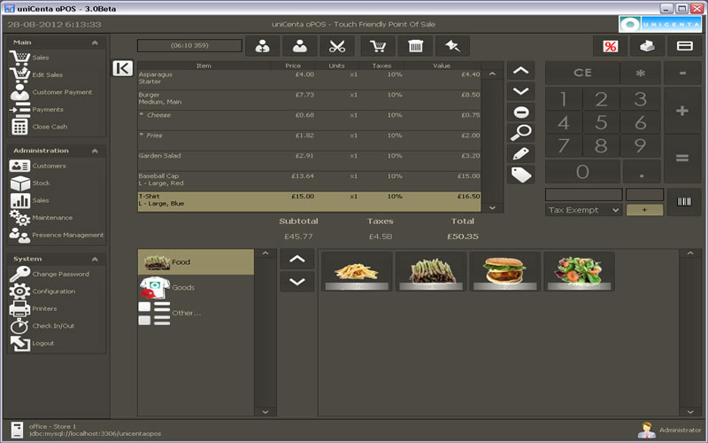 Unicenta - 5 Best Free Restaurant Management Software For Your Restaurant Business