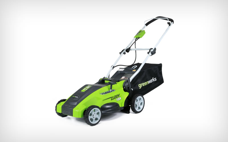 GreenWorks 25142 10 Amp Corded 16-Inch Lawn Mower Best Price and Reviews