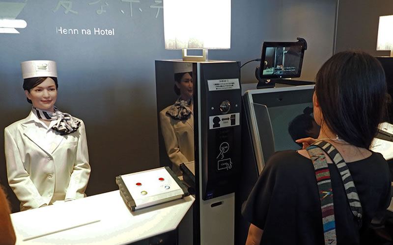 Japan's absurd robotic hotel is really major business