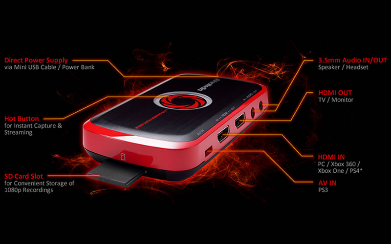 AVerMedia - C875 Live Gamer Portable (LGP) HD Game Capture Device Allows Seamless Recording of Gaming Videos for Easier Sharing