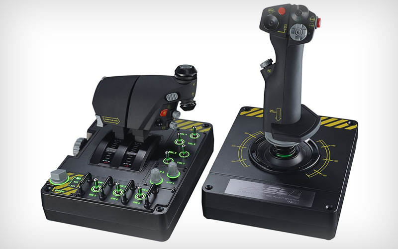 Fly High Inside Airplane Sims With The Saitek Pro Flight X-55 Rhino H.O.T.A.S.