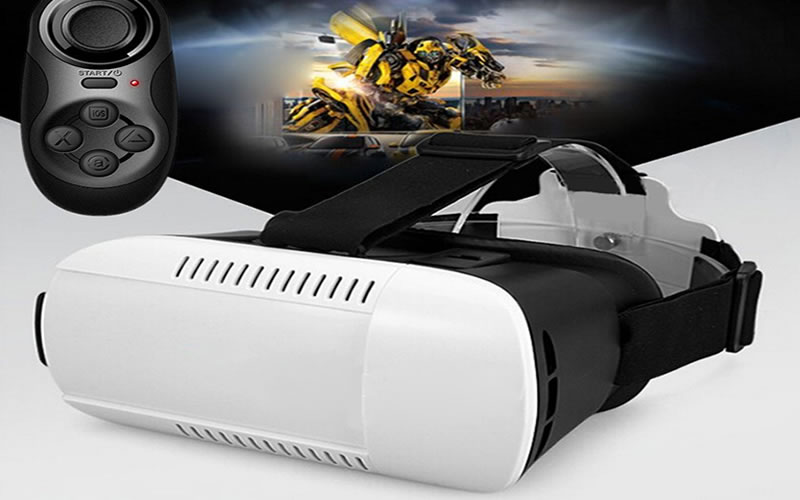 GOODO Virtual Reality 3D Video Movie Game Glasses and Bluetooth Controller is the Perfect Partner for Smartphones