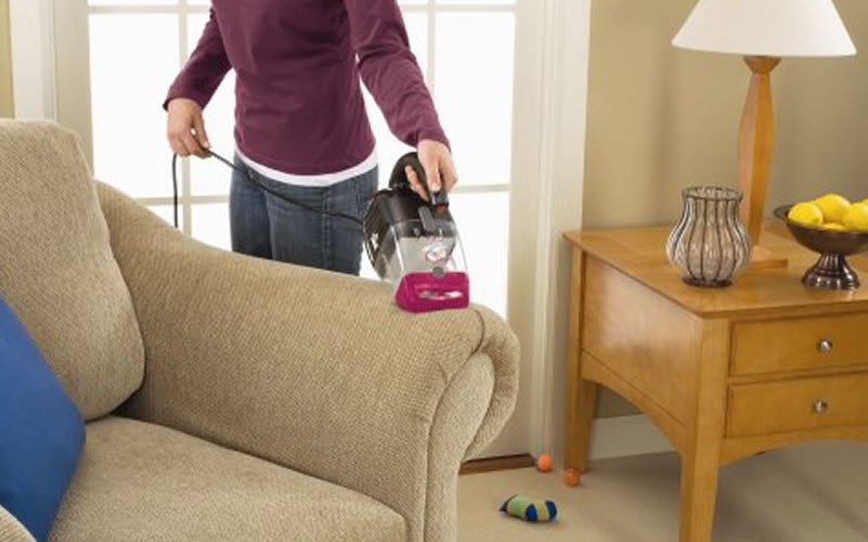 Rid Your Furniture From Unwanted Pet Hair With The Bissell Pet Hair Eraser Handheld Vacuum