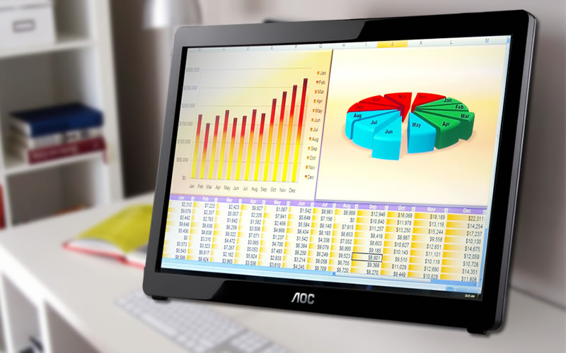 The AOC E1649FWU 16-Inch USB-Powered Portable LED Monitor Offers Plug and Play User-Friendliness