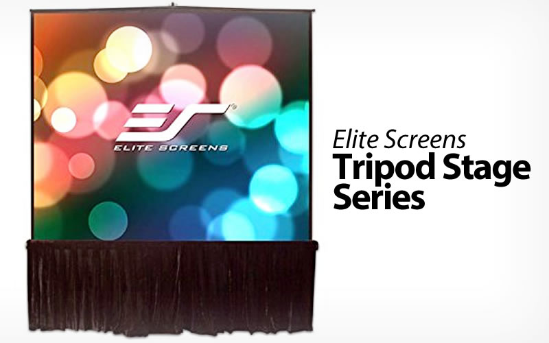 The Elite Screens Tripod Stage Series Pull-up Projection Screen Brings the Big Picture
