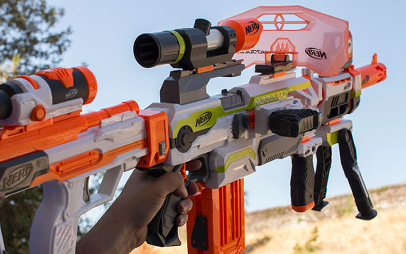 the nerf modulus ecs 10 allows custom parts to be attached to the