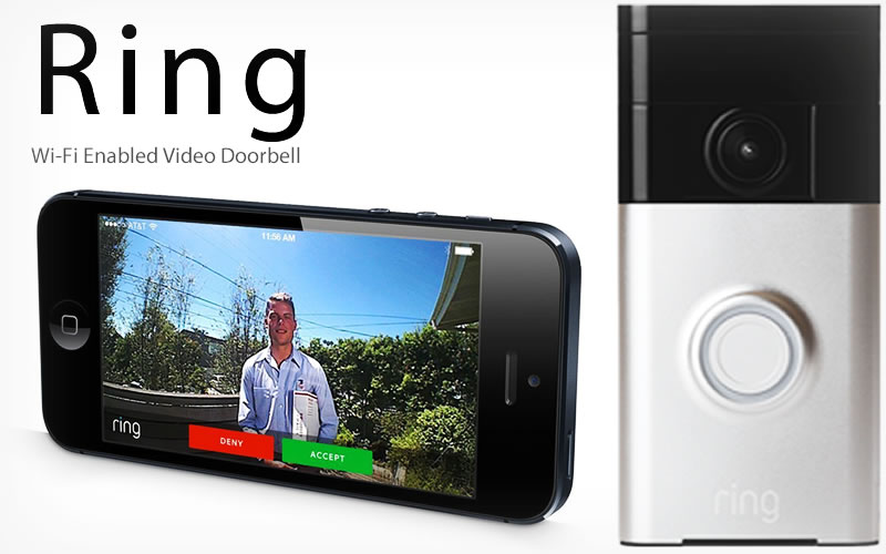 Ring Wi-Fi Enabled Video Doorbell : Get to Know Who's at the Door