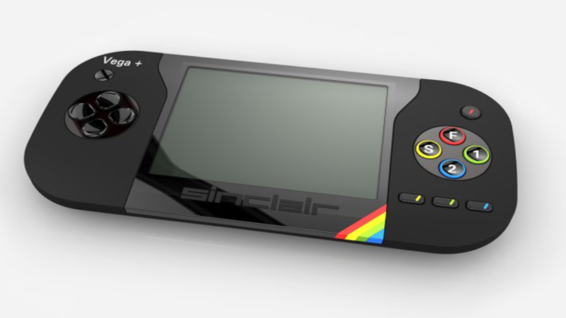 The sinclair zx spectrum vega plus console a handheld game console that can connect to your tv - Console meaning in computer ...