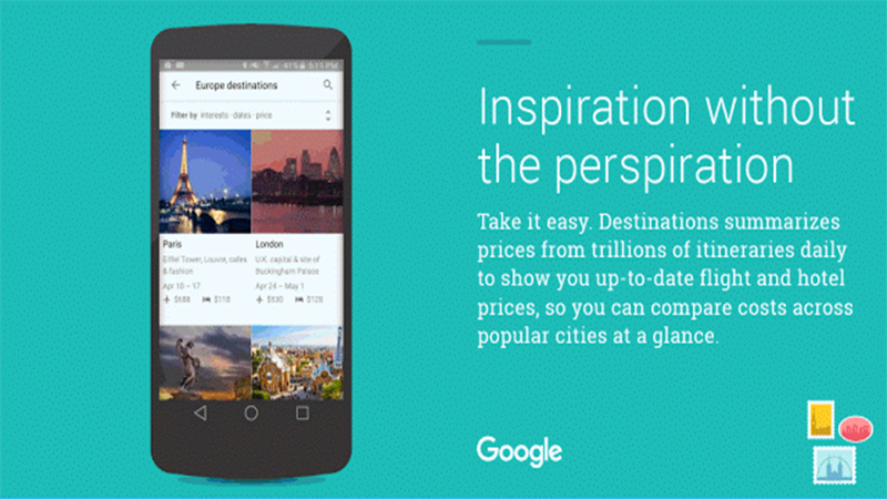 Destinations on Google - The Search Engine Now Wants to be Your Travel Agent