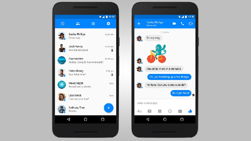 Facebook Messenger - Gets a Facelift That is Clearly Google-Inspired