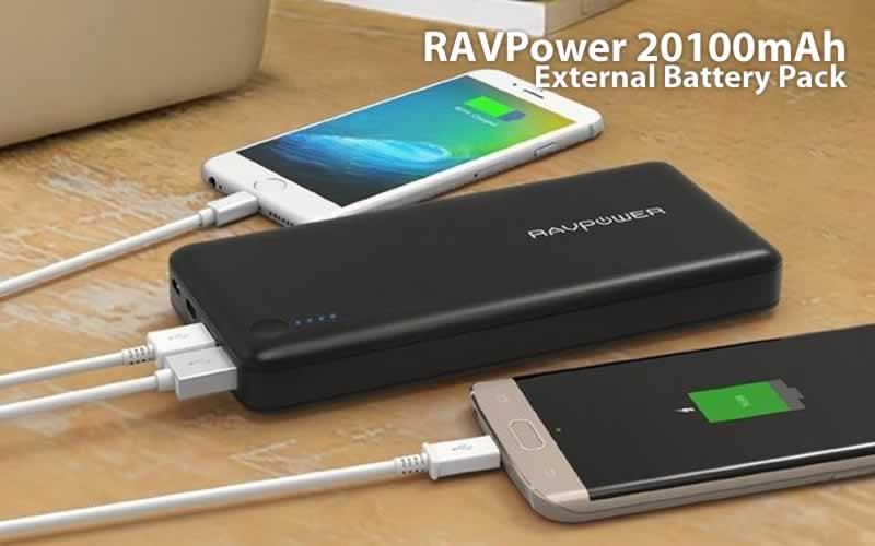RAVPower 20100mAh External Battery Pack Review