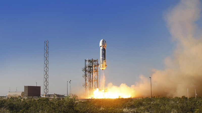 Blue Origin - Rocket Launches Lands for the Third Time