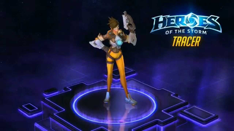 Heroes of the Storm - Overwatch's Tracer Has Some Neat Abilities