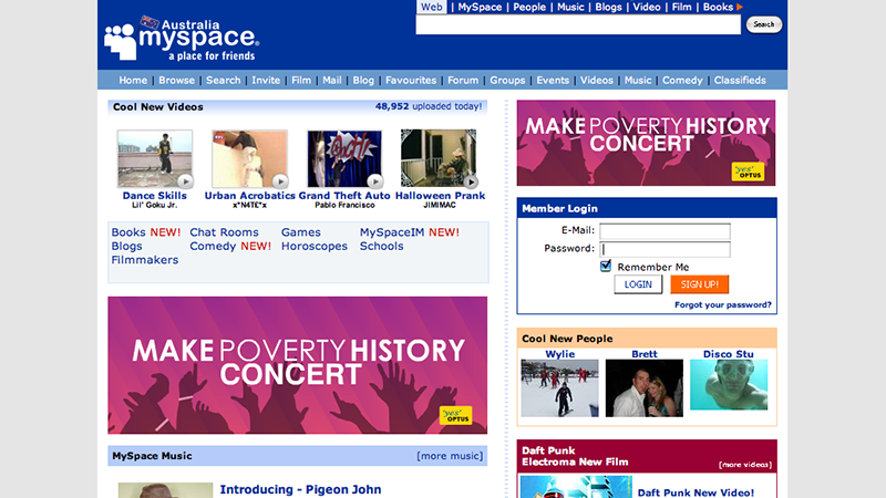 MySpace - Millions of Passwords Hacked From Old Social Networking Site