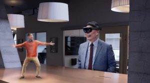 George Takei with new HoloLens