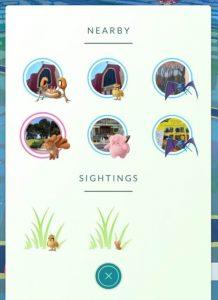 Pokemon Go Sightings