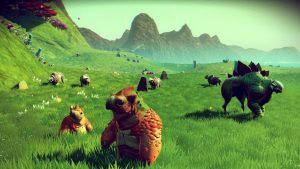Bizarre creatures are abound in No Man's Sky. Explore exotic worlds.