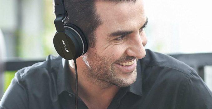 Onson headphones on the head
