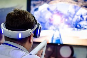 An image featuring a person using Oculus on their TV