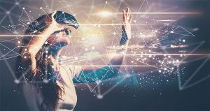 An image featuring virtual reality concept